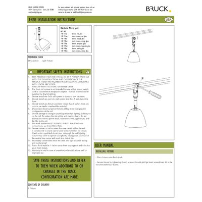 Bruck Lighting Enzis 1 Light Rainbow Directional Spot Light