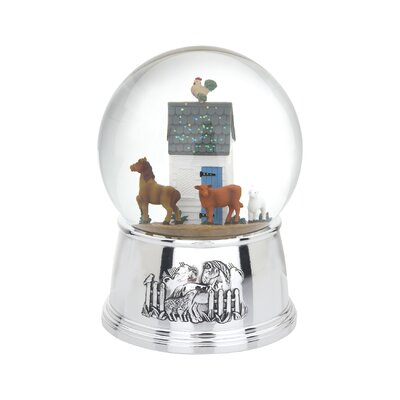 Reed & Barton Farmyard Musical Waterglobe