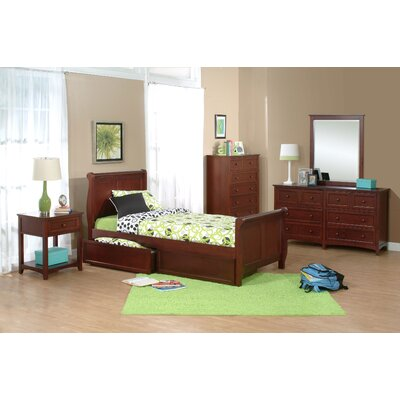 NE Kids School House Sleigh Bed Set