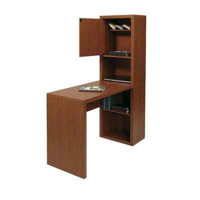 OSP Designs Fusion Library Desk with Storage Compartment