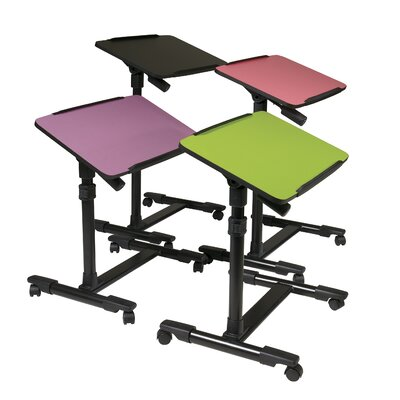 OSP Designs Mobile Laptop Cart with Adjustable Top