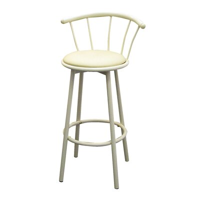 "ORE Furniture 29"" Swivel Barstool in Ivory (Set of 2)"