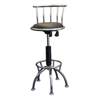 ORE Furniture Swivel Barstool with Adjustable Height in Chrome