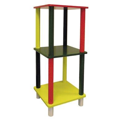 ORE Furniture Kid's 3 Tier Square Shelves