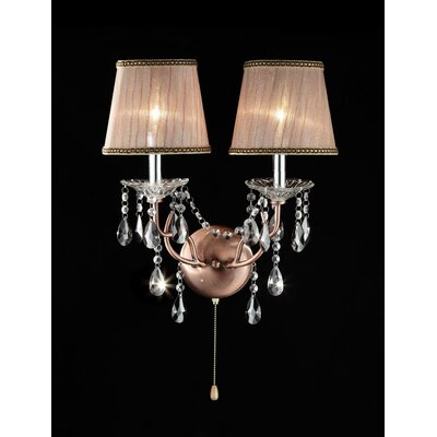 ORE Furniture Rosie Crystal 2 Light Wall Scones