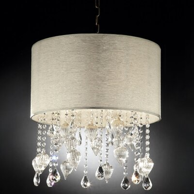 ORE Furniture Drape Crystal 3 Light Ceiling Lamp