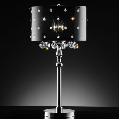 ORE Furniture Star Crystal 3 Light Table Lamp