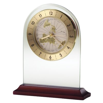World Time Arch Quartz Table Clock