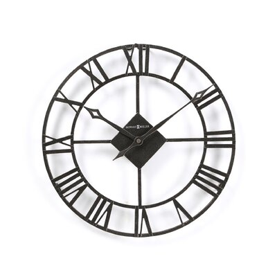 Lacy II Wall Clock in Dark Charcoal Grey