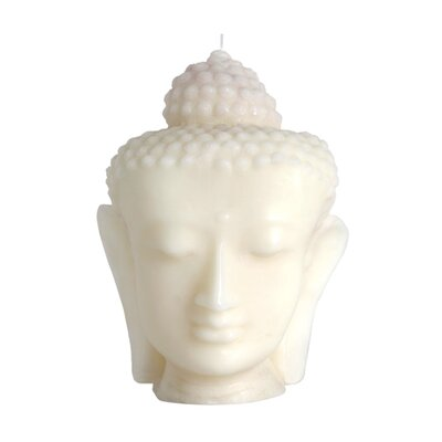 Blissliving Home Vanilla Jade Buddha Head Novelty Candle