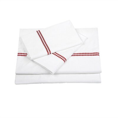 Blissliving Home Chelsea Berry Red Sheet Set - King