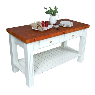 American Heritage Grazzi Prep Table with Butcher Block Top