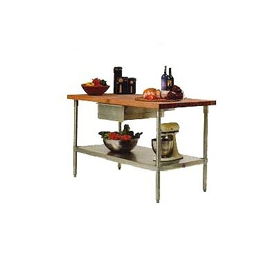 John Boos Cucina Americana Prep Table with with Butcher Block Top