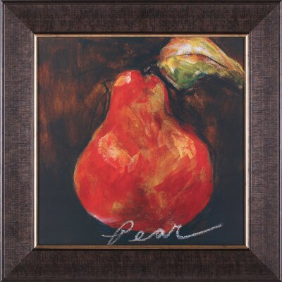 Art Effects Red Pear Framed Artwork