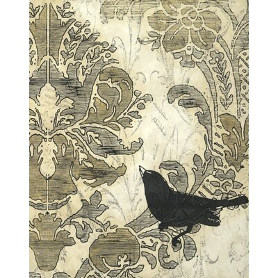 Art Effects Damask Songbird I Wall Art