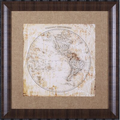 Antique Map Western Hemisphere Wall Art