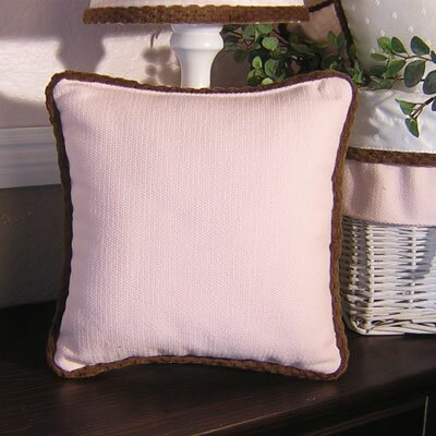 Brandee Danielle Pink Chocolate Pillow in Pink