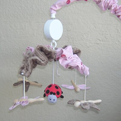 Brandee Danielle Pink Ladybugs and Dragonflies Musical Mobile
