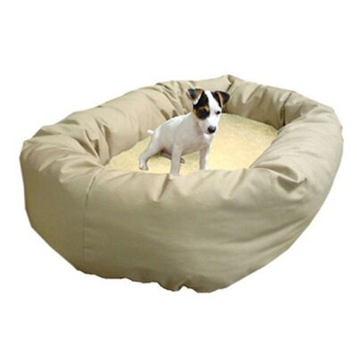 Majestic Pet Products Bagel Dog Bed in Khaki and Sherpa