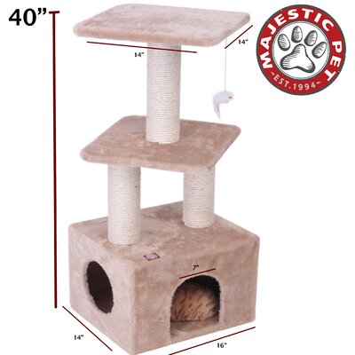 "Majestic Pet Products 40"" Casita Fur Cat Tree"
