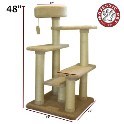 "Majestic Pet Products 48"" Kitty Jungle Gym Cat Tree"