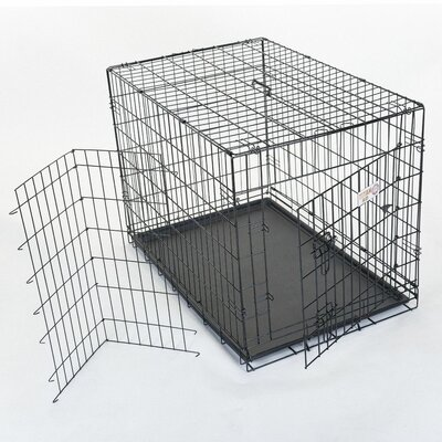 Majestic Pet Products Single Door Folding Coated Steel Wire Dog Crate