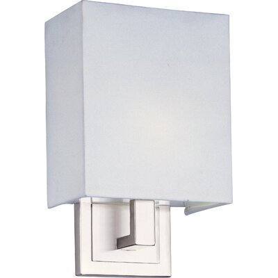 ET2 Edinburgh II  Wall Sconce with White Glass in Satin Nickel