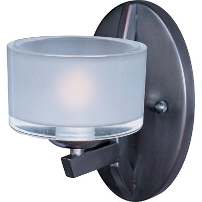 ET2 Vortex One Light Wall Sconce with Frost White Shade