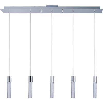 Fizz II 5 Light Linear Pendant