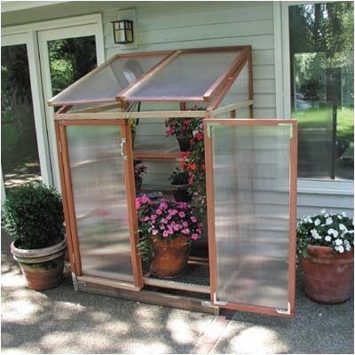 Sunshine Gardenhouse Patio Gardenhouse Polycarbonate Lean-To Greenhouse