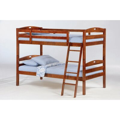 Night & Day Furniture Zest Sesame Twin over Twin Bunk Bed