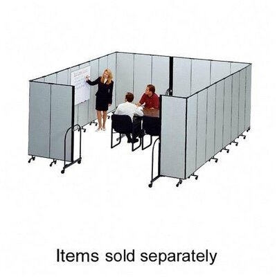 ScreenFlex Interlocking Mobile Partitions, 11 Panels, 20'5&quot;x8'