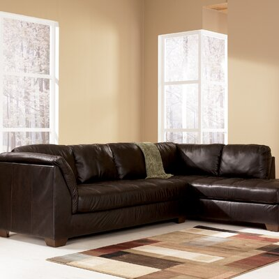 Signature Design by Ashley Princeton Leather Sleeper Sectional