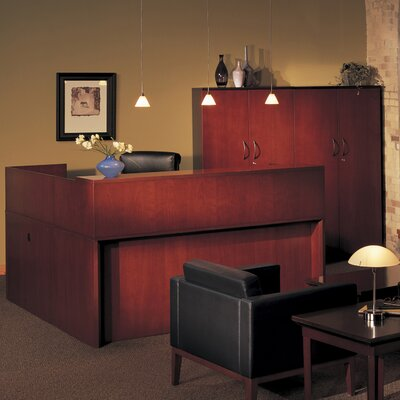Mayline Group Corsica Reception Desk with Wall Cabinet