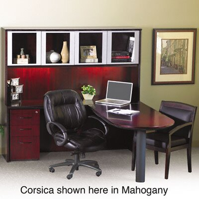 Mayline Group Corsica Lateral File, 36W x 17D x 27-1/2H, Mahogany