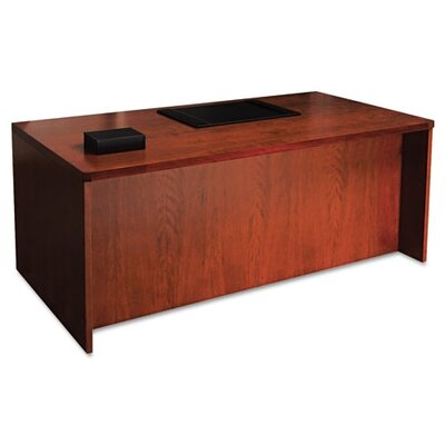 Mayline Group Mira Series Wood Veneer Straight Front Executive Desk