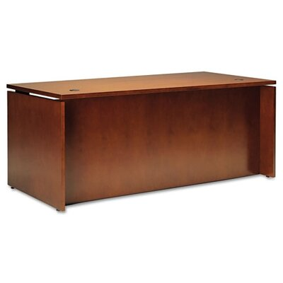 Mayline Group Stella Series Wood Veneer Straight Front Executive Desk