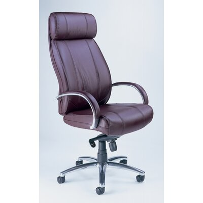Mayline Group Mercado High-Back Leather Office Chair with Arms