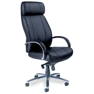 Mercado High-Back Leather Office Chair with Arms