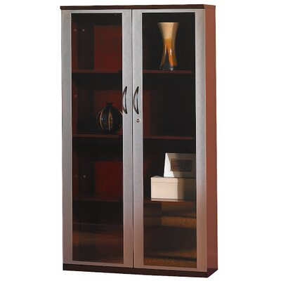 "Mayline Group 68"" H Wall Cabinet with Glass Doors"