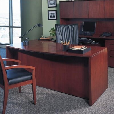 "Mayline Group Corsica 66"" Bowfront Office Desk"