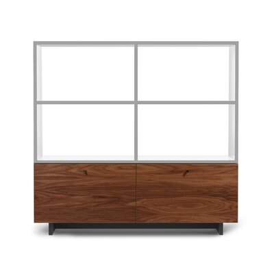 Spot on Square Roh Shelves in White / Walnut