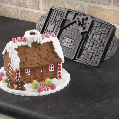Signature Cast Iron Gingerbread House Mold
