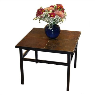 Side Table with Slate Top