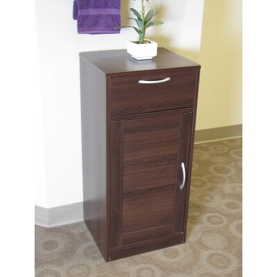 Bathroom Base Cabinet with One Louvered Doors in Espresso