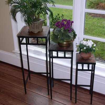 4D Concepts Slate Nesting Plant Stand (Set of 3)