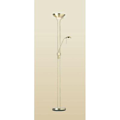 Endon Lighting Rome Floor Lamp in Satin Brass