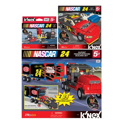 K'NEX NASCAR Driver DuPont Car / Transporter / Pit Crew Building Set Kit