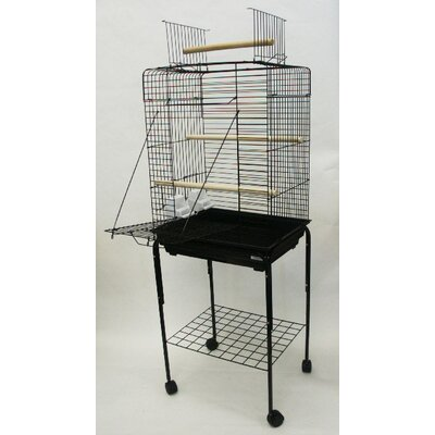 YML Open Play Top Small Parrot Bird Cage with Stand