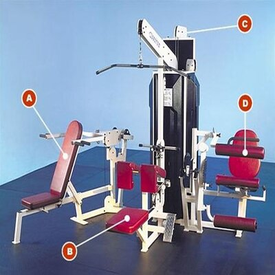 Quantum Fitness Multi-Station Commercial 4 Stack Gym with Optional Weight Stack Shrouds